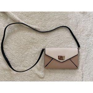 Kate Spade Leather Crossbody, Colorblock Tan/Cream